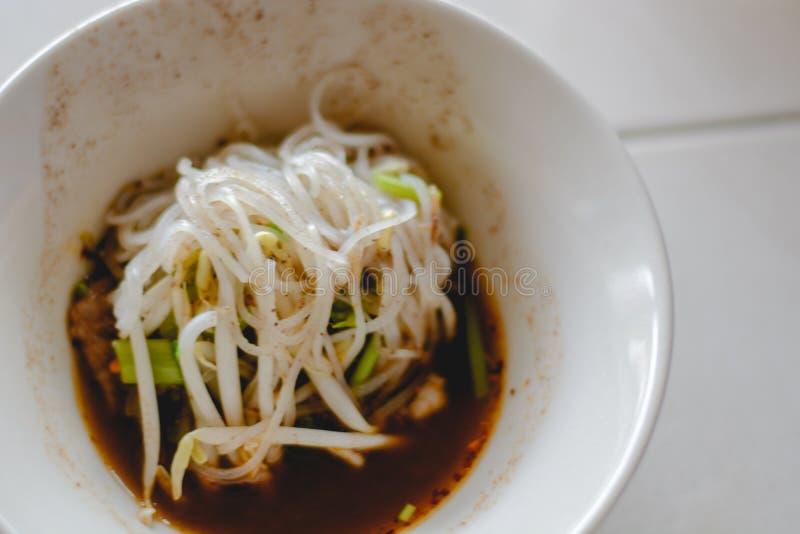 noodle ύφος Ταϊλανδός στοκ εικόνες