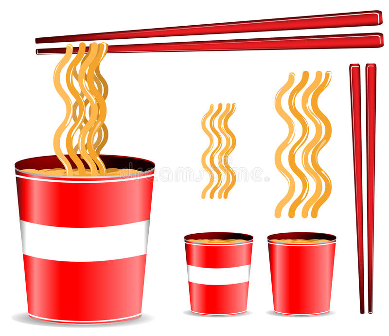 Download Noodle cup stock vector. Image of delicious, background - 19730156