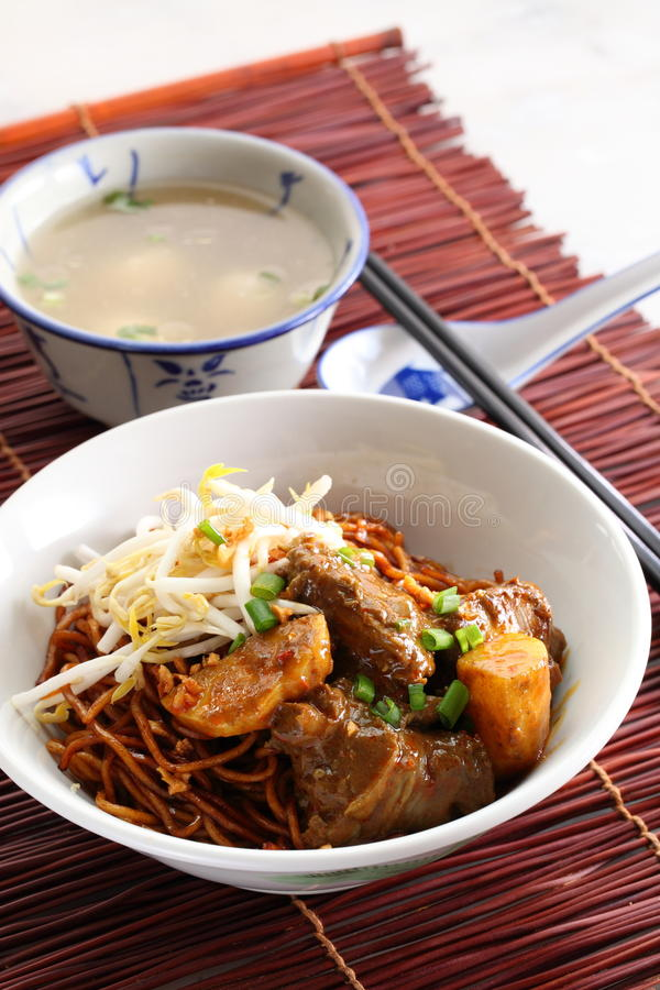 Download Noodle curry mee stock image. Image of tooth, fishball - 21951865