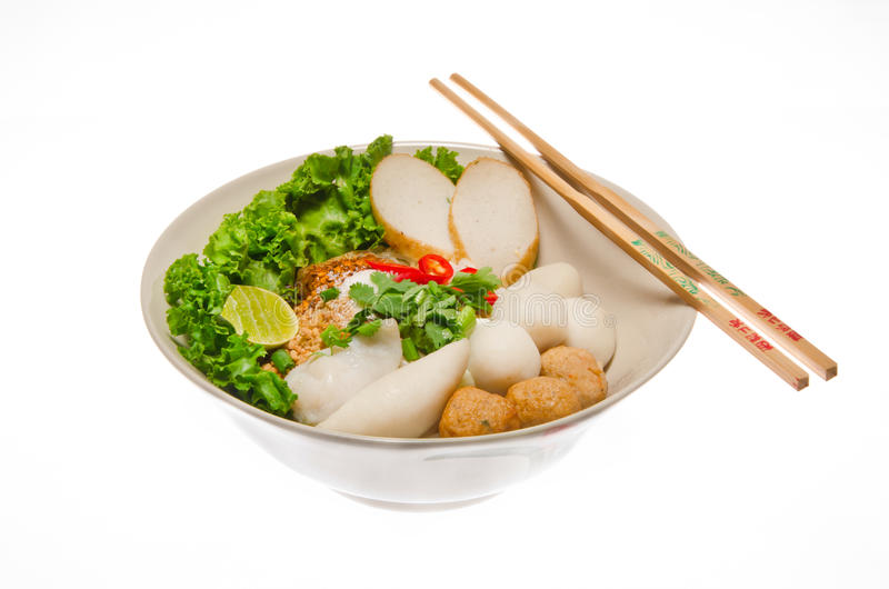 Download Noodle With Fish-ball Isolated In White Background Stock Image - Image: 24816555