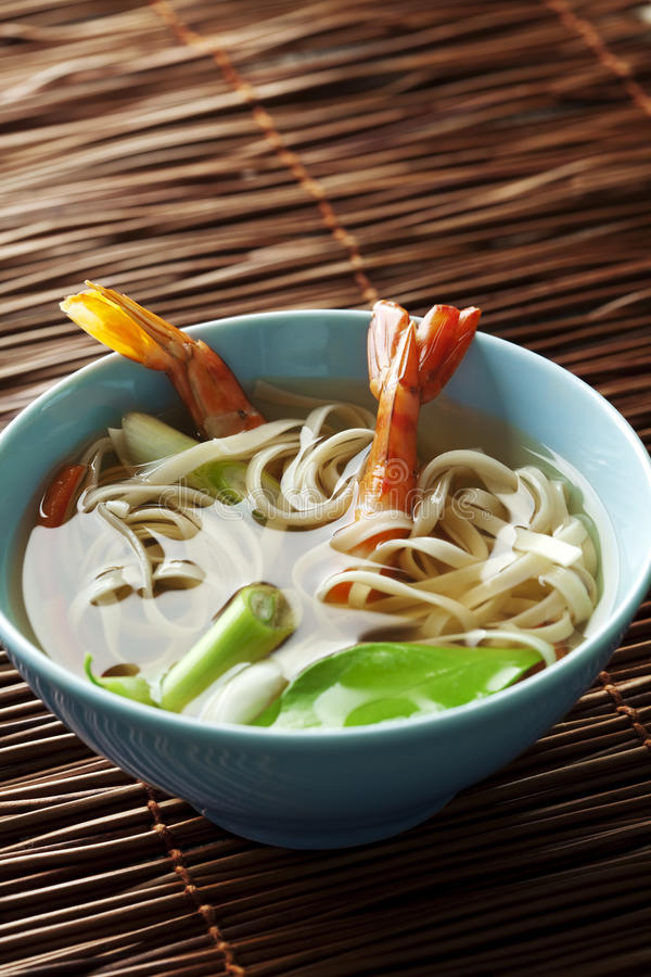 Noodle Soup Stock Photo