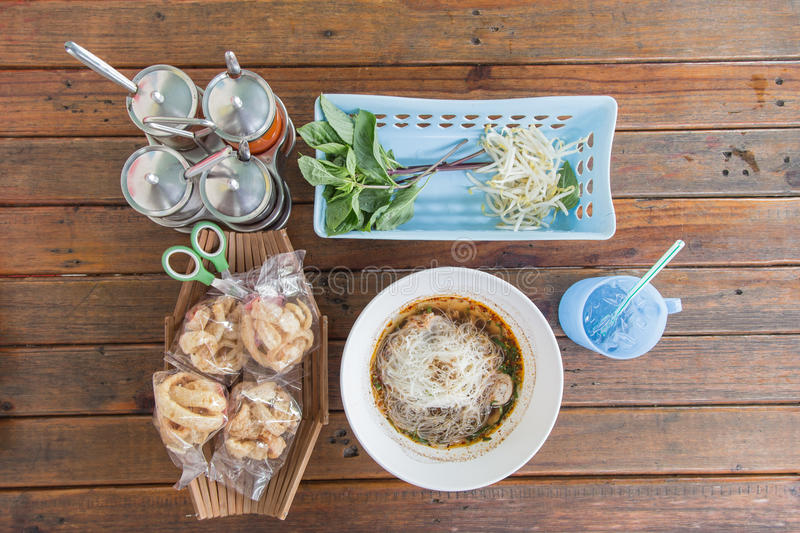 Noodle in Thailand stock images