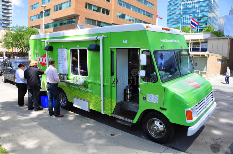 Noodle wagon food truck royalty free stock images