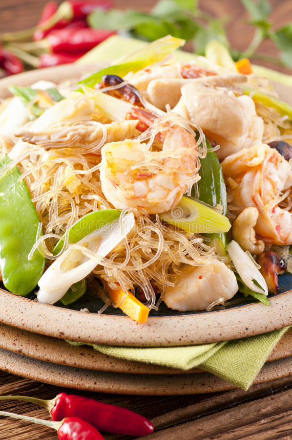 Noodles μαξιλαριών woon στοκ φωτογραφίες
