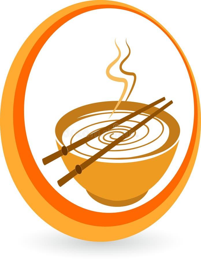 Noodles bowl royalty free illustration