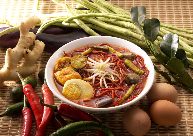 noodles currych fotografia royalty free