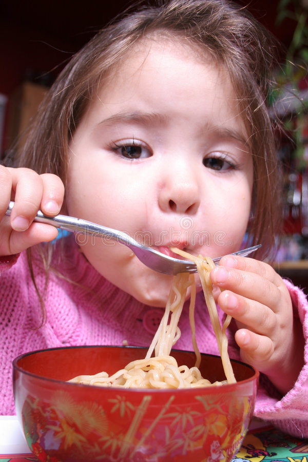 Download Noodles for Dinner stock photo. Image of lips, suck, asian - 608538