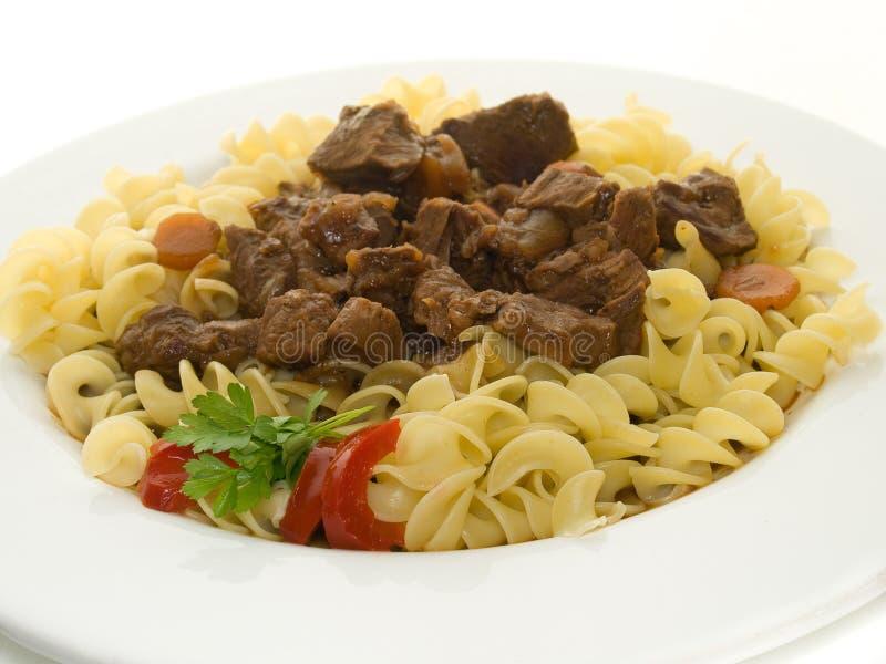 noodles goulasch zdjęcie stock