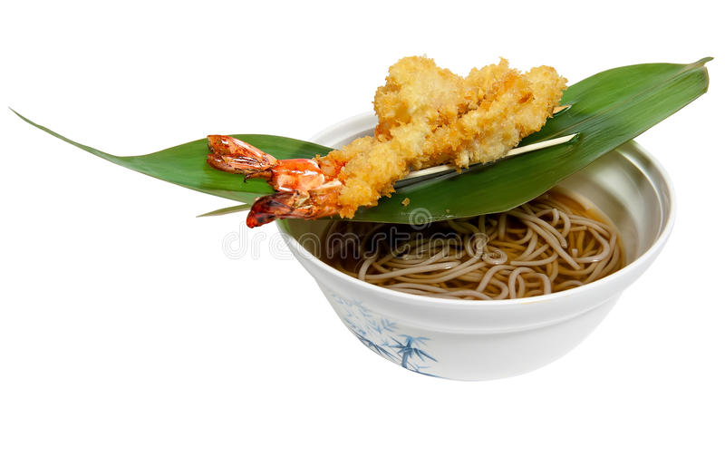 Noodles made of buckwheat flour royalty free stock photo