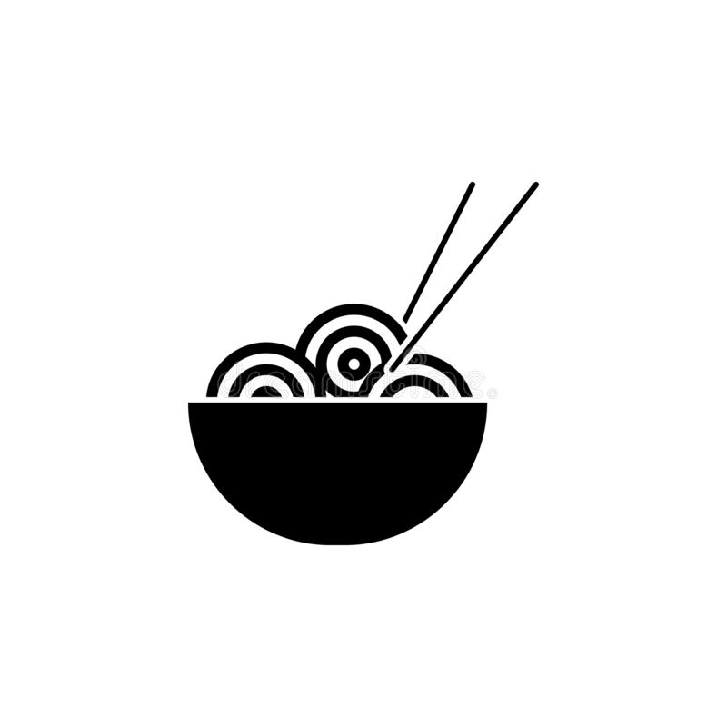 Noodles, pasta, noodles, plate icon. Simple glyph vector element of Food icons set for UI and UX, website or mobile application. On white background vector illustration
