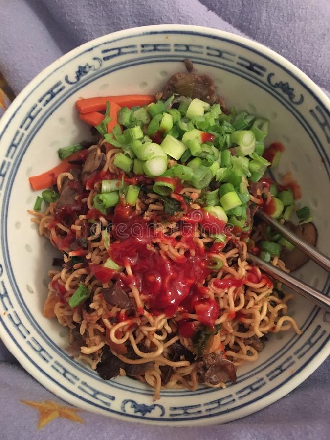 Noodles Ramen στοκ φωτογραφία με δικαίωμα ελεύθερης χρήσης