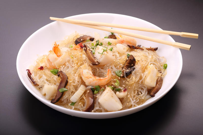 Noodles With Seafood Royalty Free Stock Photo