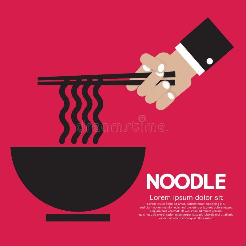 Noodles. stock illustration