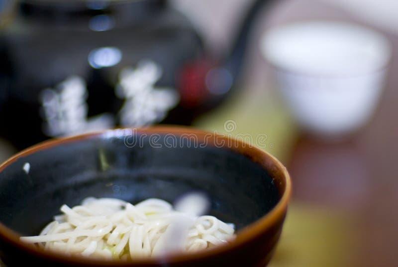 noodles zupy herbaty. zdjęcie royalty free