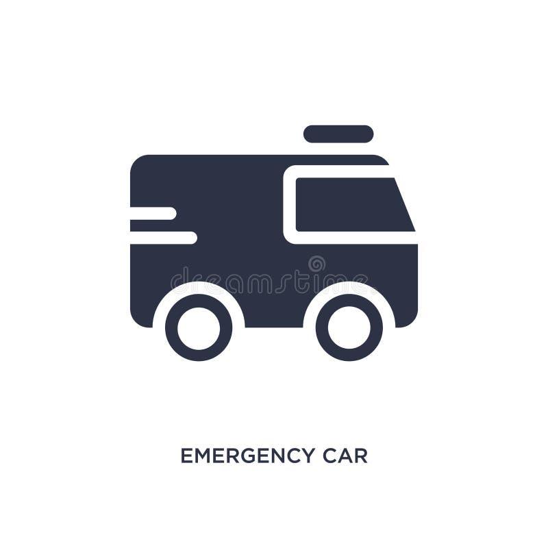 noodsituatieauto die juist pictogram op witte achtergrond onder ogen zien Eenvoudige elementenillustratie van mechaniconsconcept vector illustratie