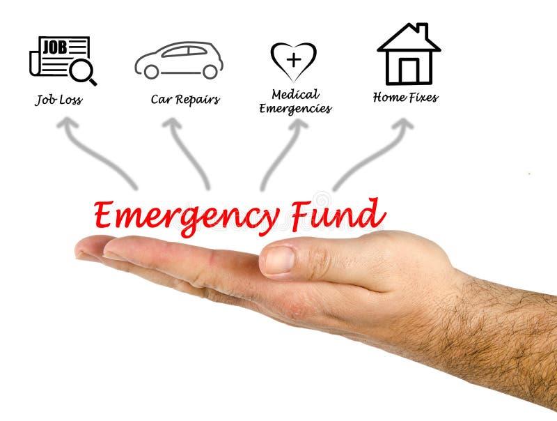 Noodsituatiefonds stock afbeelding