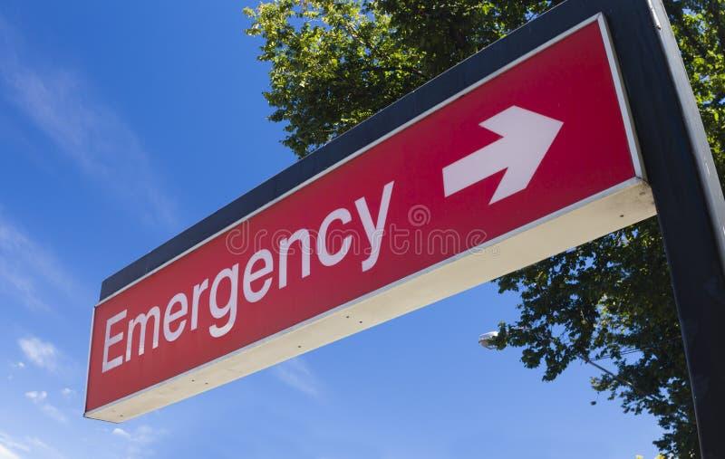 Noodsituatieteken van het ziekenhuis stock afbeelding