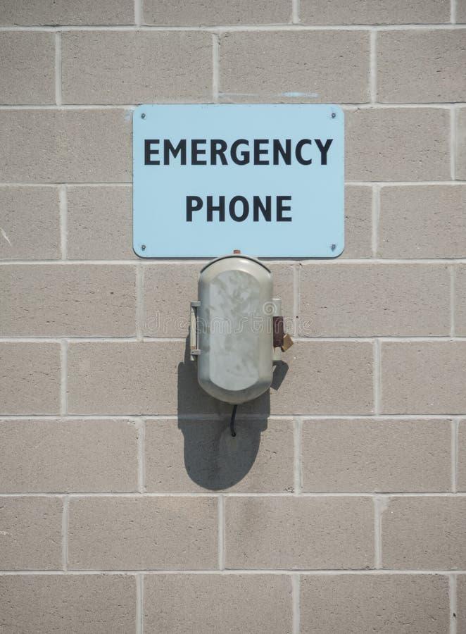 Noodsituatietelefoon stock fotografie