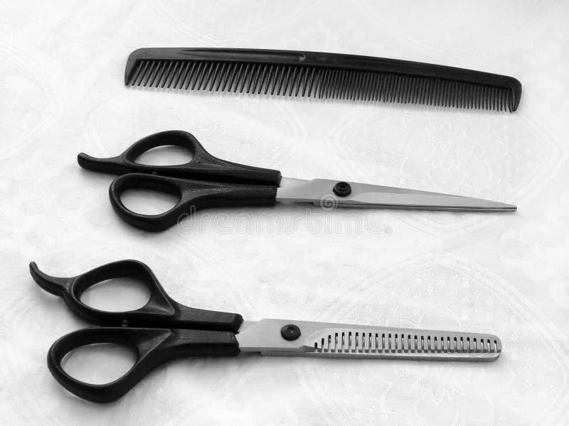 Noodzakelijke instrumenten van de kapper royalty-vrije stock afbeeldingen