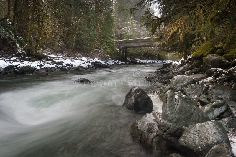 Nooksack rzeka zdjęcia royalty free