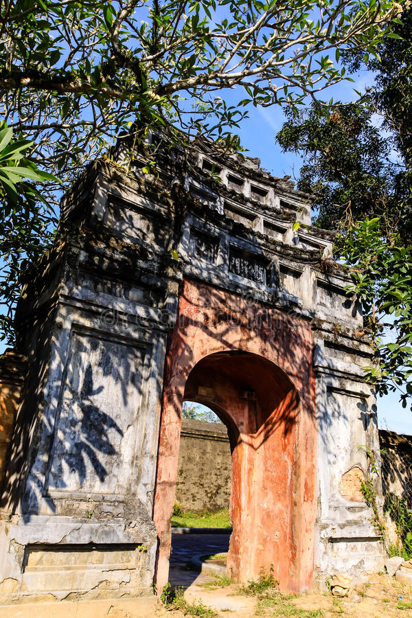 Download Noon Gate Hue Vietnam stock photo. Image of imperial - 31985874