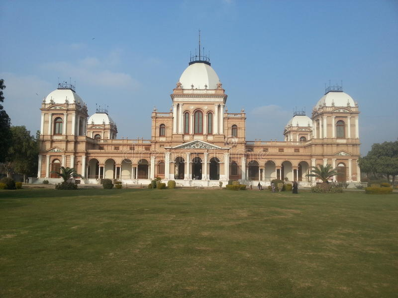 Noor Mehal. Is a landmark of Punjab, Pakistan. It was built in 1872 in Bahawalpur State, an Italian style palace royalty free stock image
