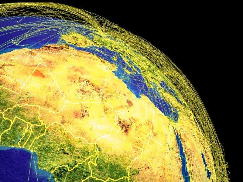Noord-Afrika van ruimte stock illustratie