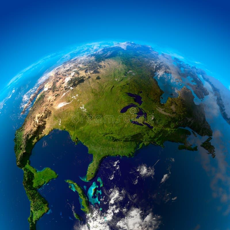Noord-Amerika, de mening van vector illustratie