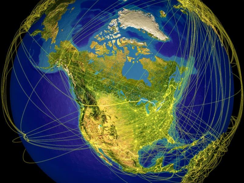 Noord-Amerika ter wereld royalty-vrije illustratie