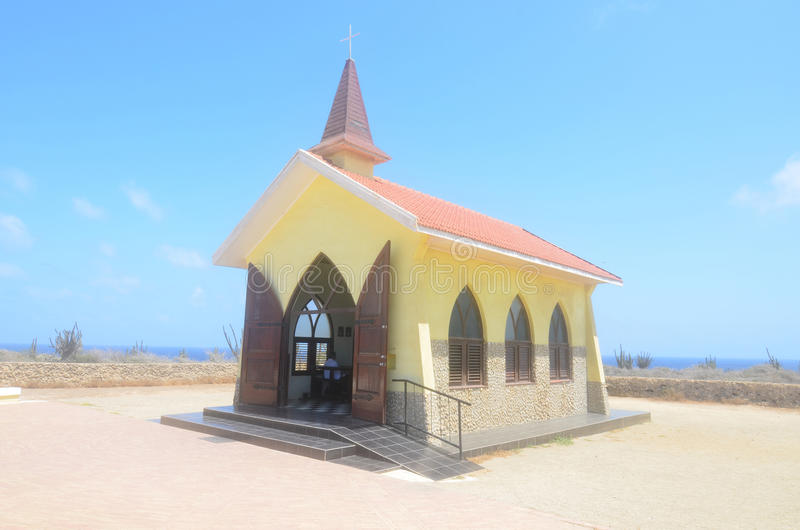 Noord Aruba ` s Vista Altowa kaplica zdjęcia royalty free