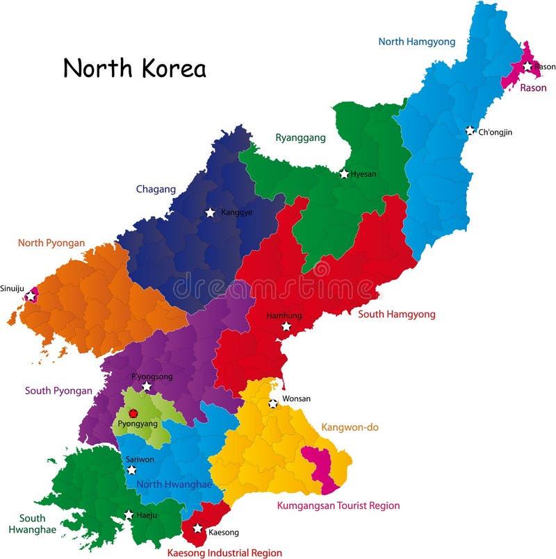 Noord- Korea royalty-vrije illustratie