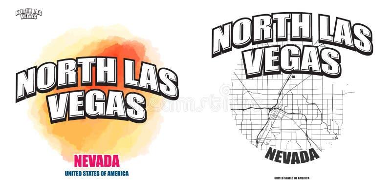 Noord-Las Vegas, Nevada, twee embleemkunstwerken royalty-vrije illustratie