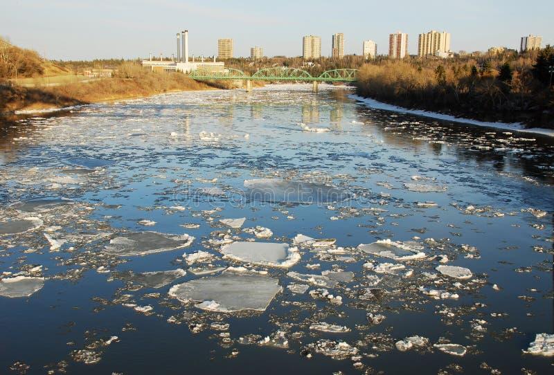 Noord- Saskatchewan rivier stock afbeelding