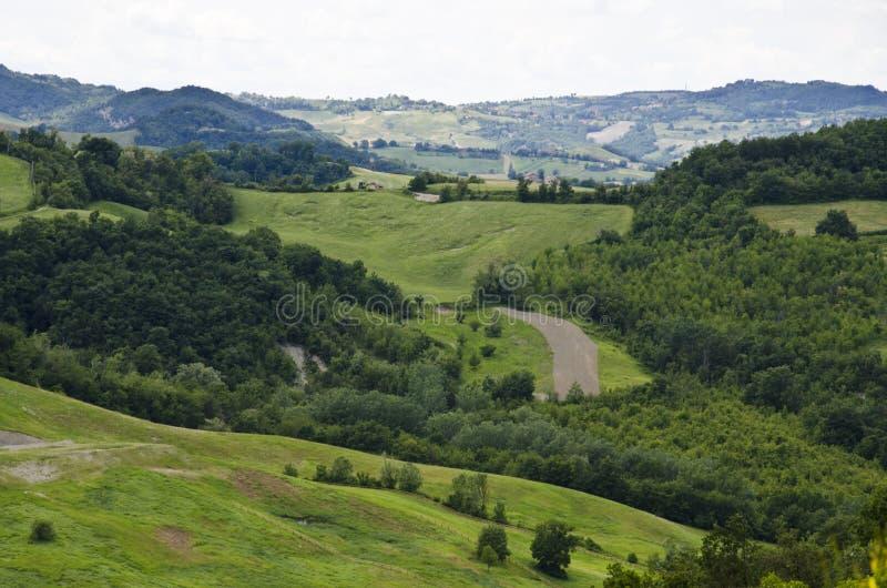 Noordelijk Italië - Groene heuvels stock afbeelding