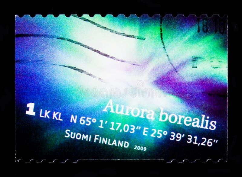 Noordelijk Lichtenaurora borealis, serie, circa 2009 stock fotografie