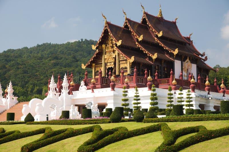 Noordelijke de traditie Thaise stijl van de architectuur stock foto