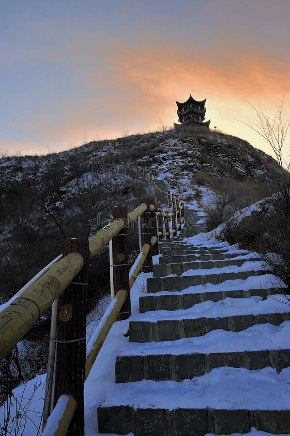 Noordelijke de wintersneeuw royalty-vrije stock afbeeldingen