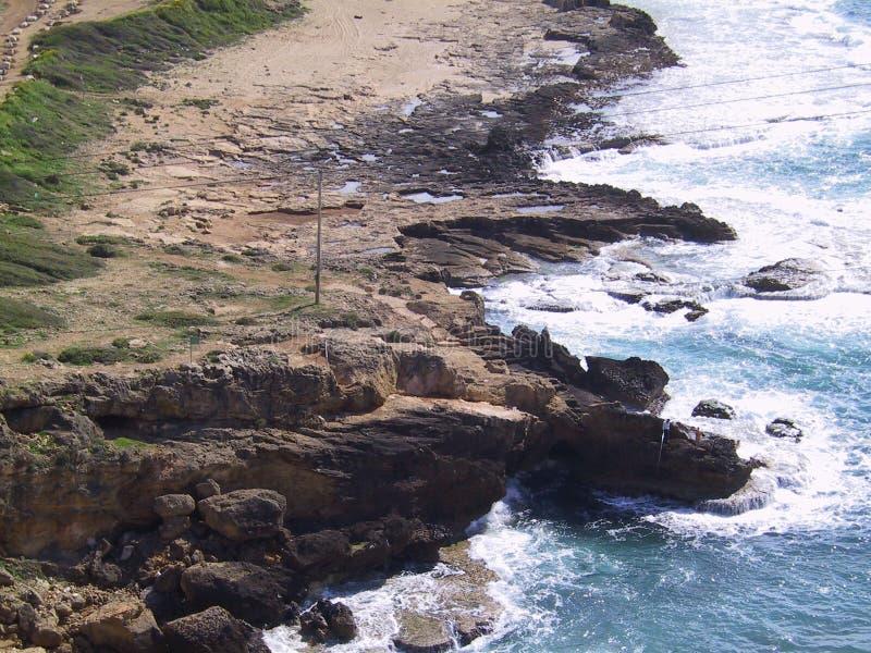 Noordelijke Kustlijn Isreali royalty-vrije stock afbeelding