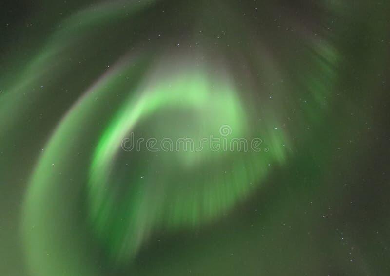 Noordelijke Lichte Spiraal royalty-vrije stock foto's