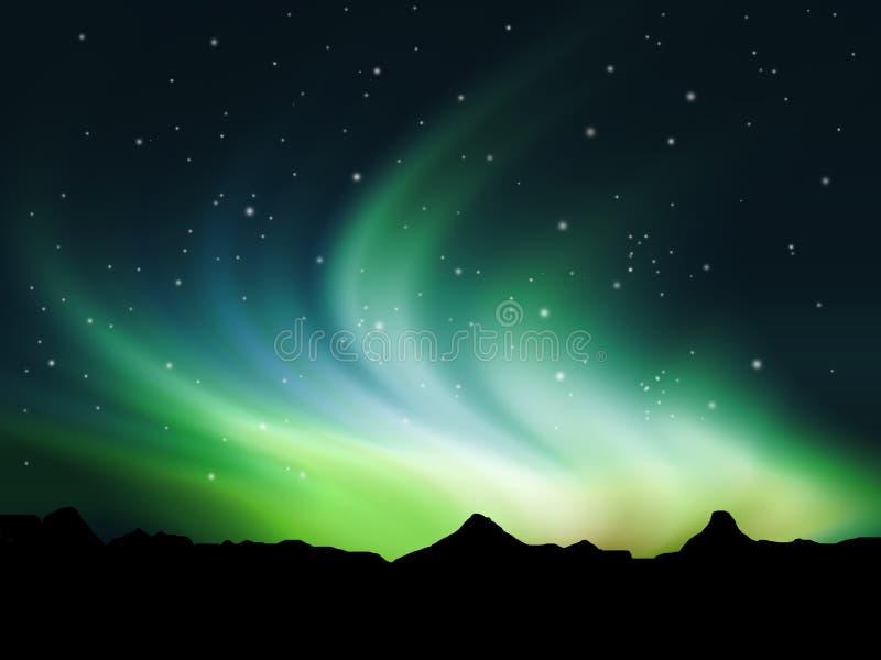Noordelijke lichten royalty-vrije illustratie