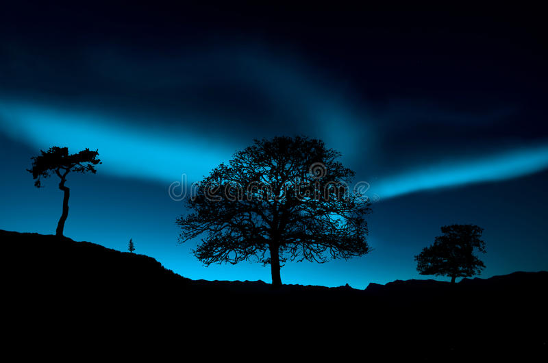 Noordelijke lichten stock afbeelding