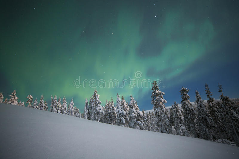 Noordelijke lichten royalty-vrije stock afbeelding