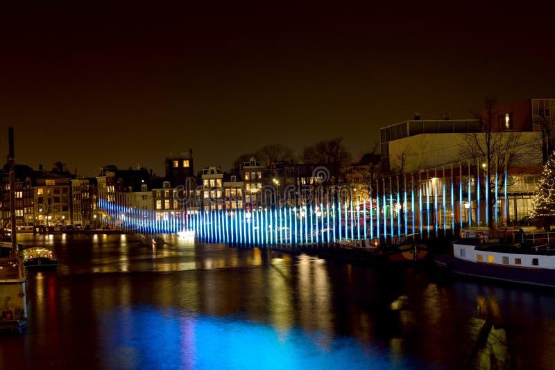Noordelijke Lichten in Amsterdam royalty-vrije stock foto