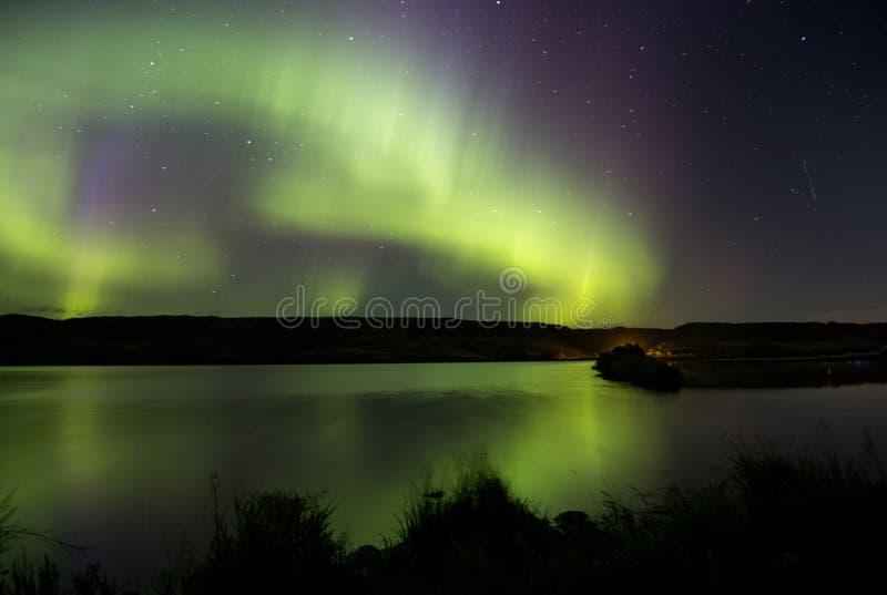 Noordelijke Lichten Aurora Borealis royalty-vrije stock foto
