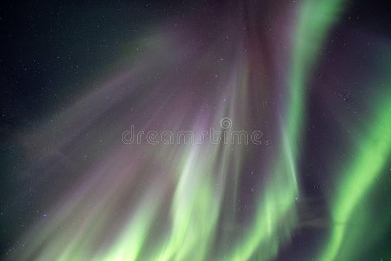 Noordelijke lichten, Aurora borealisexplosie op nachthemel royalty-vrije stock foto's