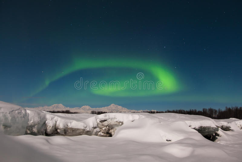 Noordelijke Lichten over Denali royalty-vrije stock foto's