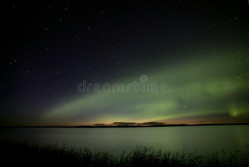 Noordelijke Lichten Saskatchewan Canada stock foto's