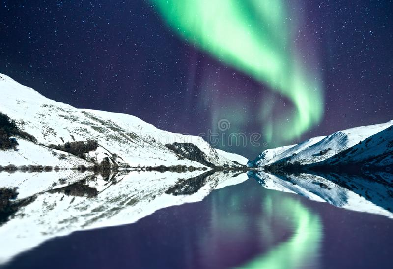 Noordelijke Lichtenaka Aurora Borealis royalty-vrije stock foto's