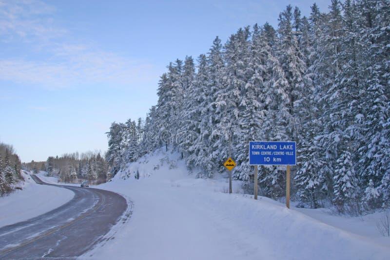 Noordelijke Ontario weg stock afbeelding