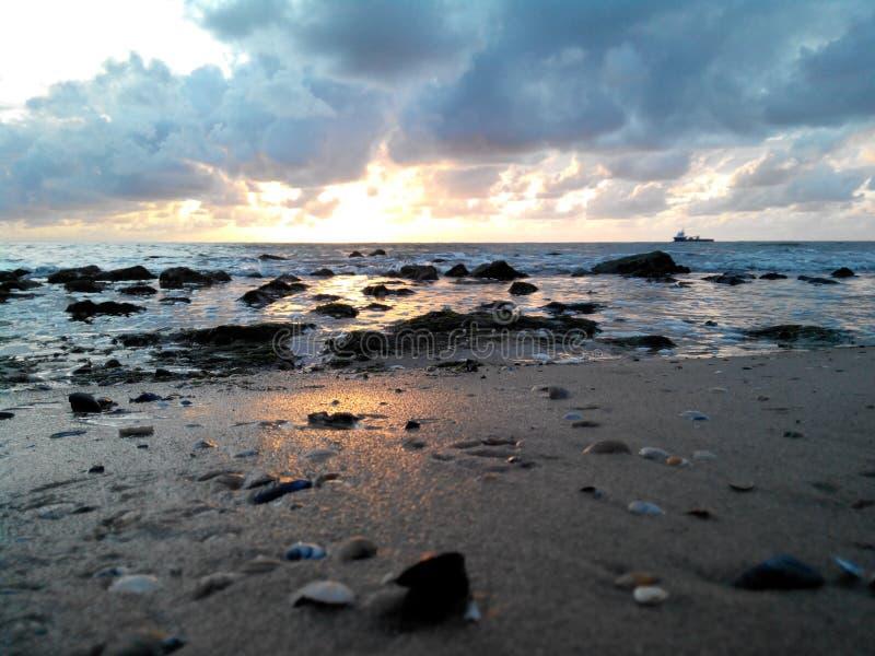 Noordelijke overzees, Nederland, Den Helder stock foto's